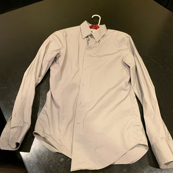 Express Other - Express button up grey size small